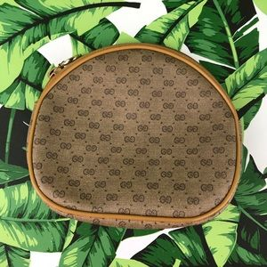 Vintage Gucci Small Monogram Logo Makeup Bag